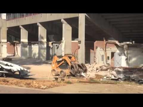 Construction on the Alabama baseball stadium renovation - Sept. 10, 2014