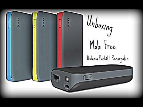 "Unboxing ""Banco de Energía Mobi Free 4000 mah"""