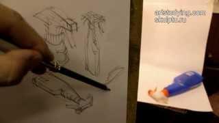 Обучение рисунку. Введение. 10 серия: первые наброски