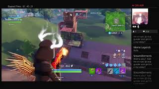 Fortnite ps4 live stream|playing with subs road to 100 skins/slow clap is back oof i have 0 vbuck