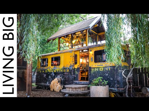 WW2 Railway Train Car Transformed Into Amazing Tiny House