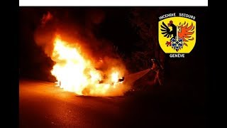 Pompiers Genève - Quelques interventions des mois de juillet-août 2019