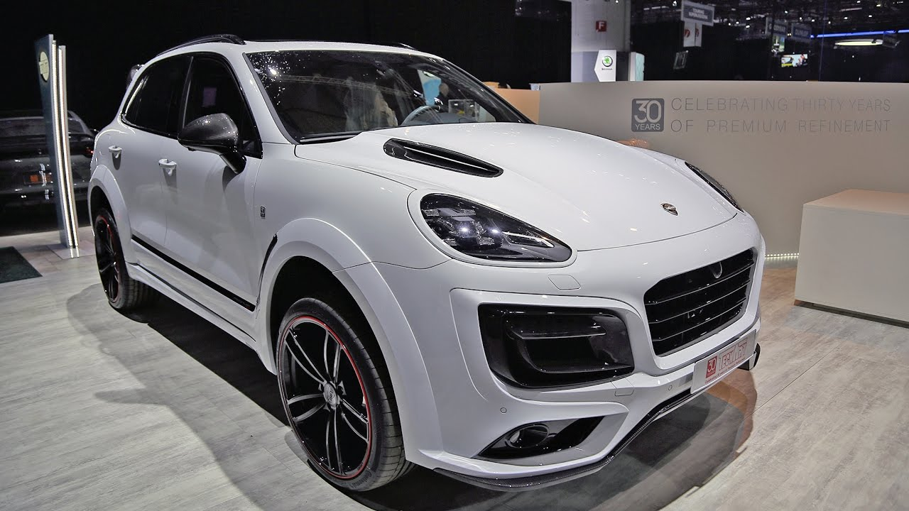 porsche cayenne turbo s techart magnum 2017 geneva motor show youtube. Black Bedroom Furniture Sets. Home Design Ideas