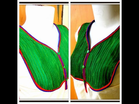 DOUBLE PIPING - PIN TUCK DESIGNER NECKLINE - EASY MAKING