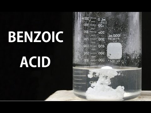 Making Benzoic Acid (from sodium benzoate)