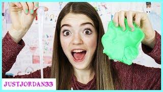 Testing NO GLUE NO BORAX Slime Recipes! / JustJordan33