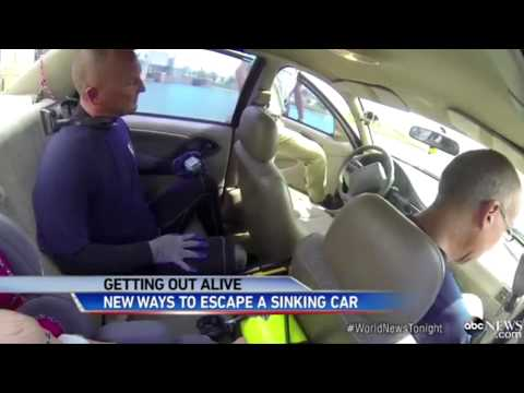 ABC News - World News Tonight - How to Survive if You Are Trapped in a Sinking Vehicle