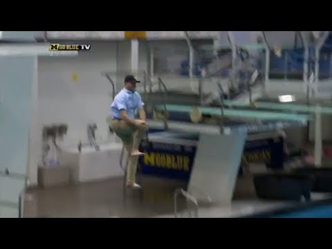 Jim Harbaugh does cannonball in khakis | ESPN