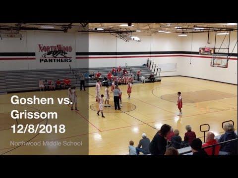 Goshen Middle School vs. Grissom Middle School 7th Grade Basketball Game 12/8/2018