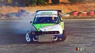 DRIFT MACHINE - BMW E30 2.5 Turbo - Idle, Antilag, DRIFT & Burn! Pure Sound [HD]