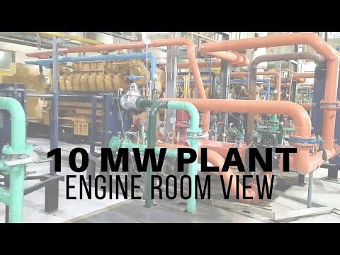 CAT GENERATORS BASED ENGINE ROOM VIEW 10 MW CO GENERATION PLANT