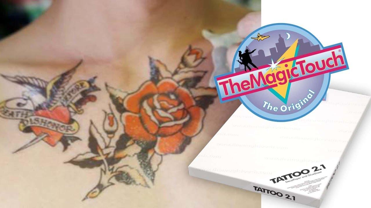 Jak Stworzyć Tatuaż Usuwalny Papier Transferowy Themagictouch Tattoo 21 I Ploter Tnący