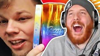 Unge REAGIERT auf REGENBOGEN GLAS YouTube Kacke! 🤣   ungeklickt