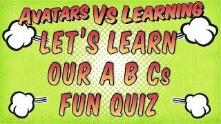 Lasst uns Lernen, Unsere A B Cs Fun-Quiz für Kinder Cartoon Animiert Mit Toonly