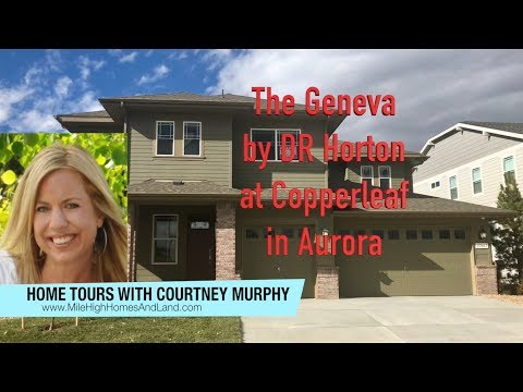 New Homes In Aurora Colorado - Geneva Model By DR Horton At Copperleaf - Model Home For Sale!