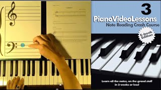 Learn to Play Piano: Lesson 3: (Bass F) Sheet Music Note Reading Crash Course (Piano Video Lessons)