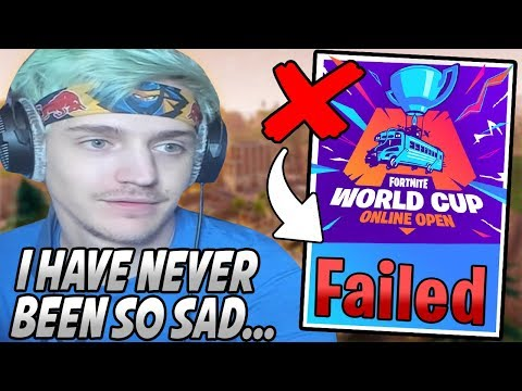 Ninja Gets HEARTBROKEN After NOT Qualifying For The World Cup Finals & ENDS His Stream...