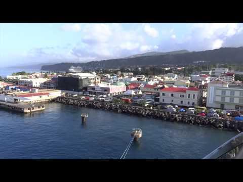 Roseau, Dominica - Jewel of the Seas Arrival HD (2015)