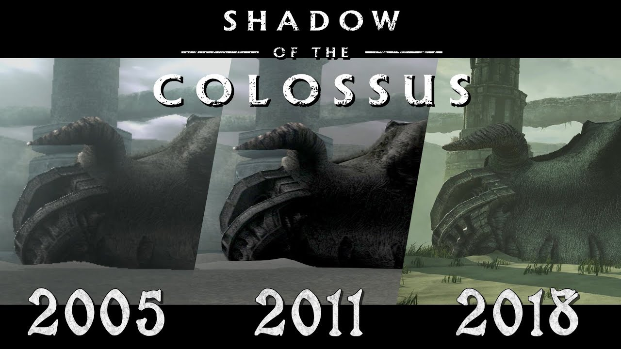 Shadow of the Colossus 2005-2018 (PS2 vs PS3 vs PS4 ...