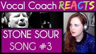 Vocal Coach reacts to Stone Sour (Corey Taylor) - Song #3