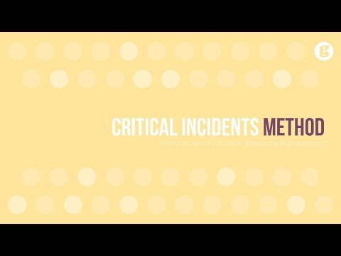 Critical Incidents Method