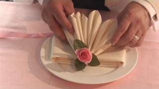 Repeat youtube video How To Fold Fancy Looking Napkins