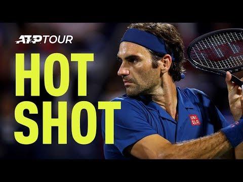 Hot Shot: Federer Hits Perfect Drop Shot At Dubai 2019