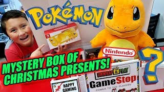 Gamestop Gave Us The Best Christmas Presents! New Pokemon & Nintendo Holiday Mystery Box Opening!