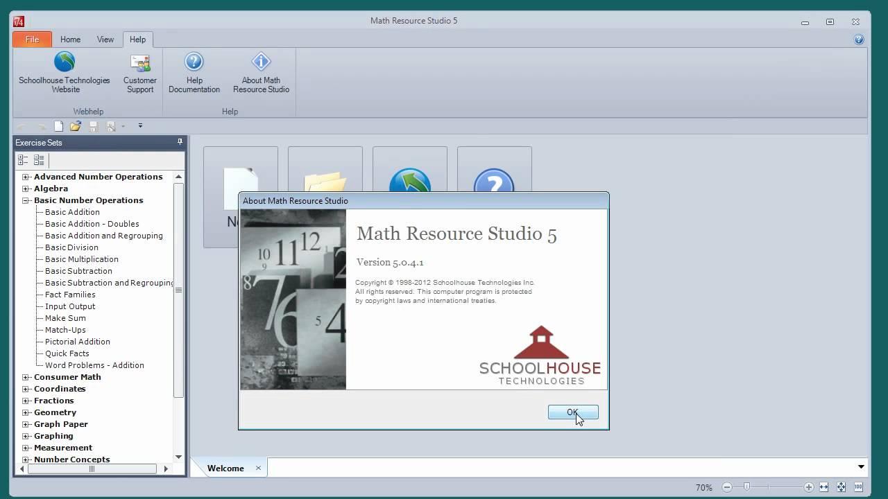 Math Resource Studio 5 Interface - YouTube