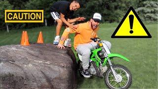Dirt Bike Obstacle Course ⚠️ FamousTubeFamily