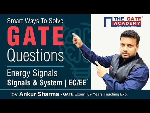 Energy Signals in Signals & Systems | GATE Exam Questions for Electronics & Electrical Engineering