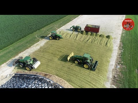 Chopping Corn Silage 2018 in Mercer County Ohio