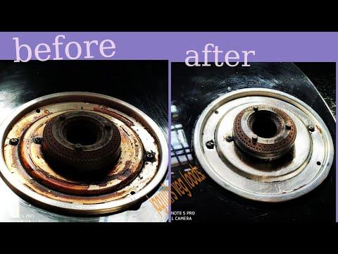 How to clean gas stove plate/एकदम आसान तरीके से गेस की खराब प्लेट को साफ करने का तरीका/जानीये कैसे क