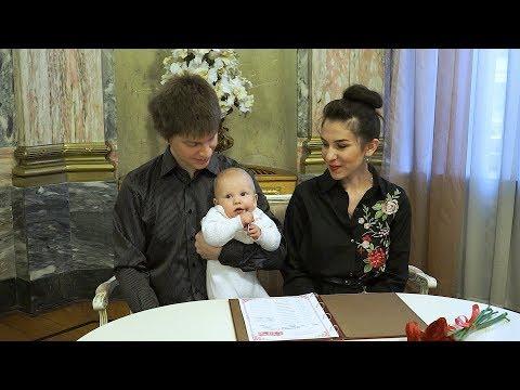 Регистрация ребёнка во Дворце Малютки.  Дом Малютки на фурштатской.  Детская видеосъемка в СПб