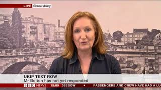 Suzanne BBC Interview on the future of UKIP 14-01-2018
