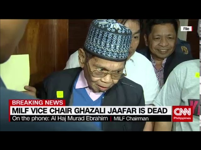Breaking News: MILF Vice Chair Ghazali Jaafar is dead