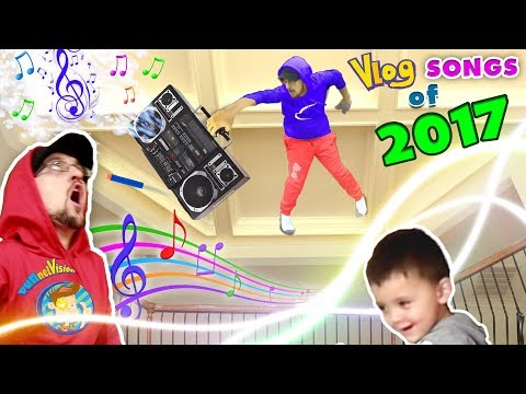 WHY'S HE ON MY CEILING!! FUNnel V TWINS! Vlog Songs of 2017 Music Video Video Compilation!