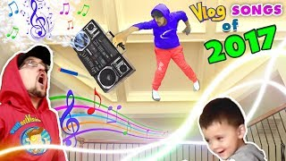 WHY'S HE ON MY CEILING!! FUNnel TWINS! FV Family Vlog Songs of 2017 Music Video Video Compilation! Video