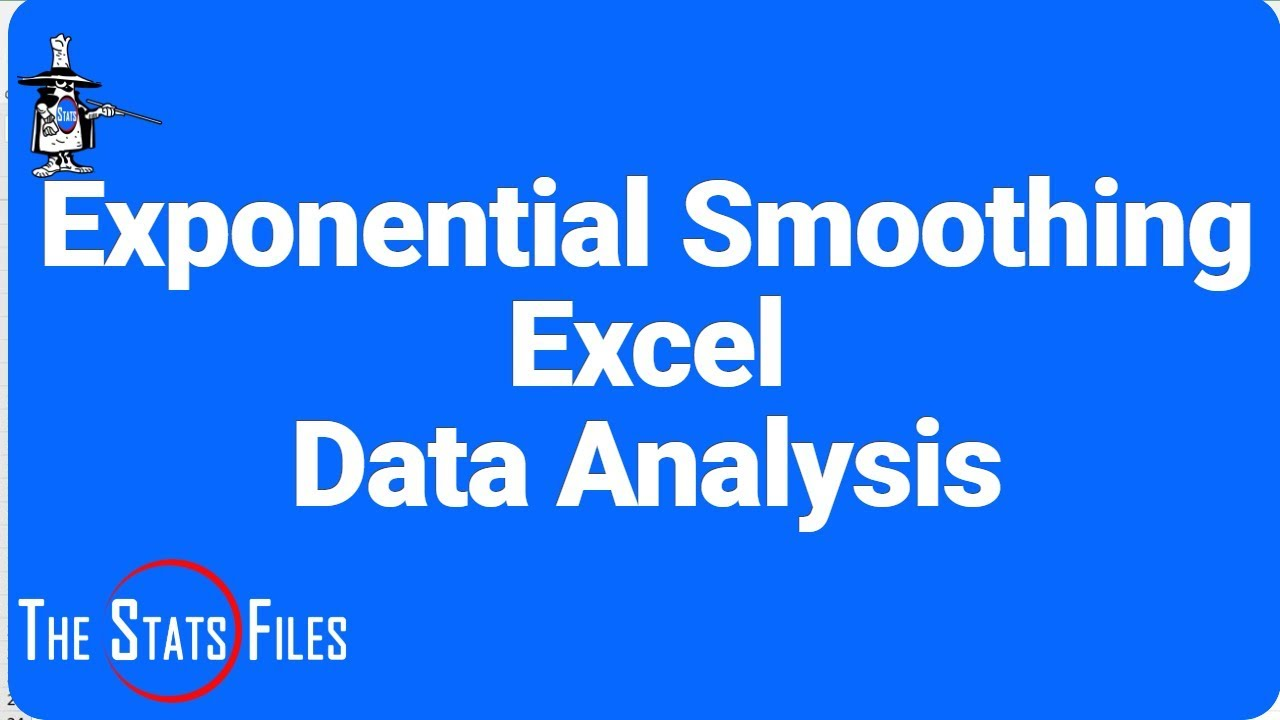 Exponential Smoothing Forecast Excel 2016 Data Analysis Toolpak
