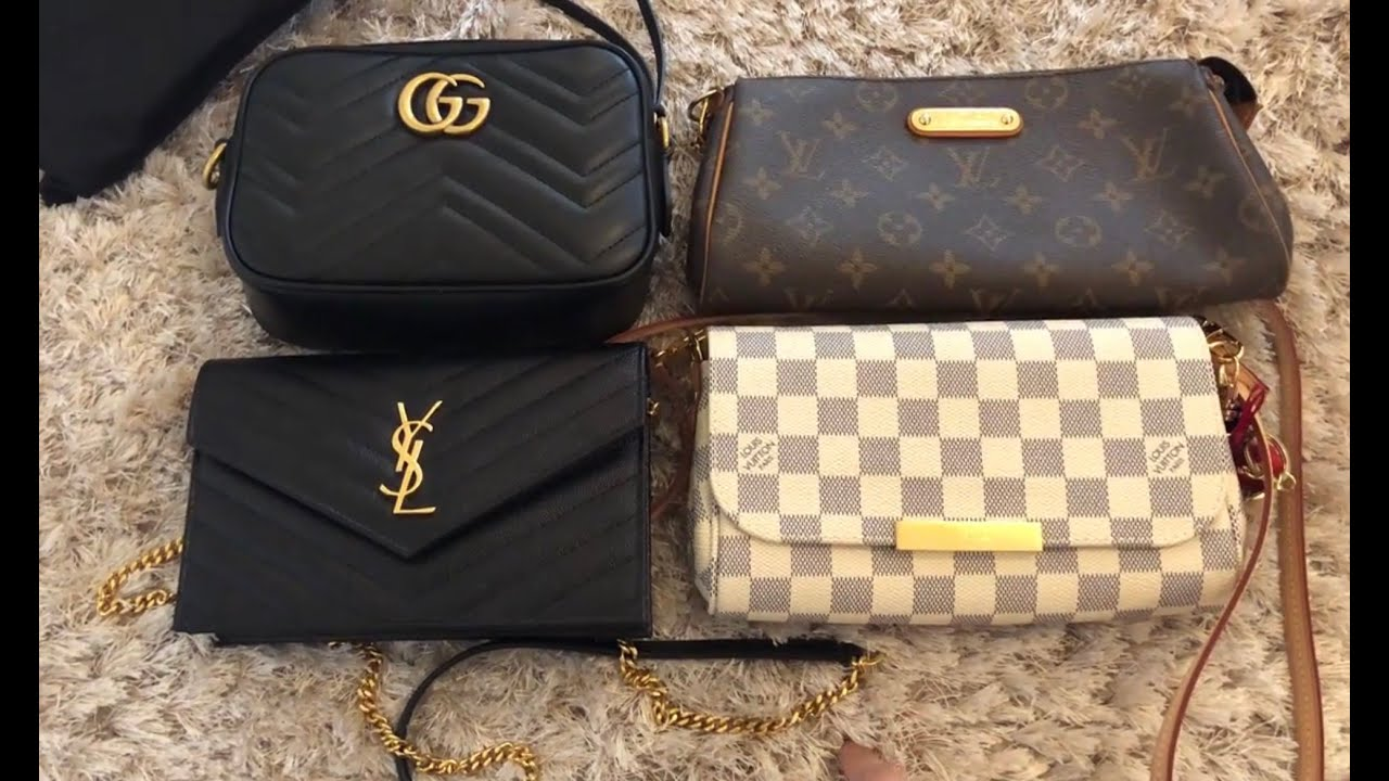 9e7675ea084 YSL WOC/Saint Laurent wallet on chain reveal, what fits inside and  comparison to LV and Gucci bags