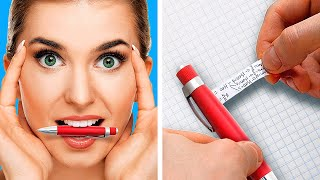 GENIUS SCHOOL TRICKS FOR SMART STUDENTS || Funny School Hacks by 5-Minute Decor