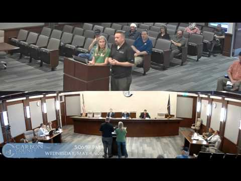 Carbon County Utah Commission Meeting 5-4-2016