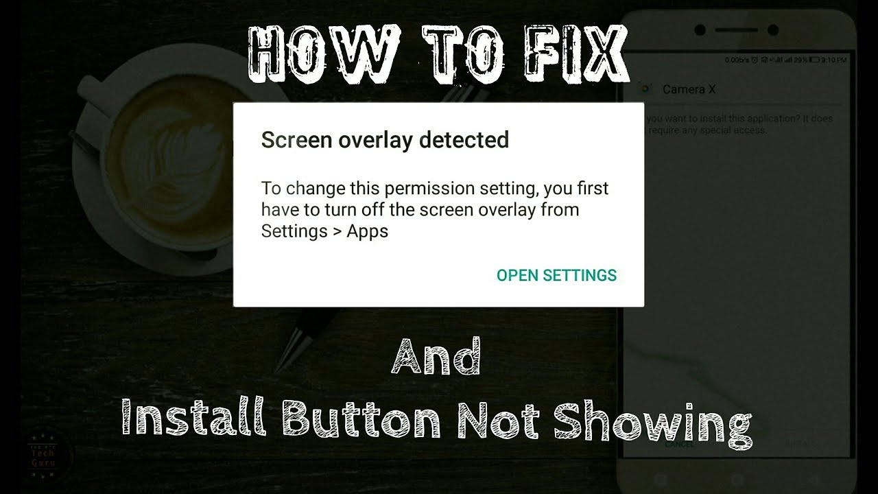 how to fix screen overlay detected