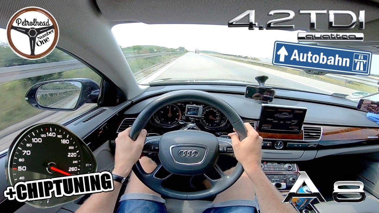 381 KM Audi A8 D4 4.2 TDI   Bardzo szybkie TDI. Próba autostradowa.