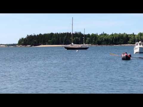 Brooklin School Compass Harbor pram launch