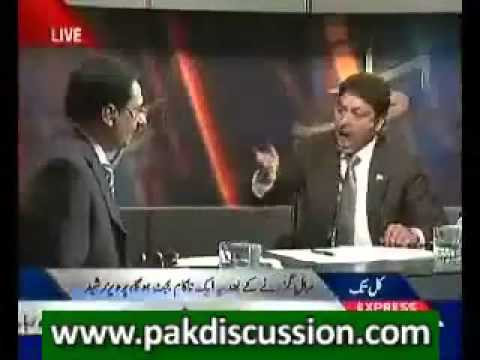 Fight - Javed Choudry Vs Faisal Raza Abidi (Great Chaudhry Sahib Carry-on your great Braveness).flv
