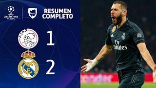 Ajax 1-2 Real Madrid – GOLES Y RESUMEN – IDA OCTAVOS DE FINAL – UEFA Champions League
