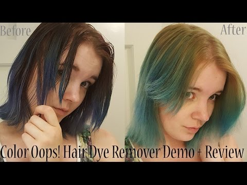 Green Color Oops Hair Color Remover Demo Review Youtube