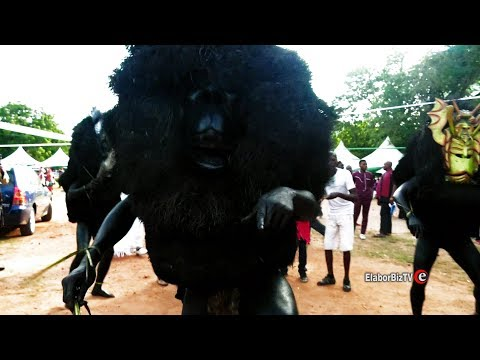 Nigerian Igbo Masquerades Storms Ghana with Exciting Dance