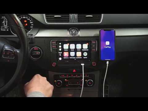 Installera CarPlay radio Volkswagen Passat Golf Polo Tiguan Caddy mm.